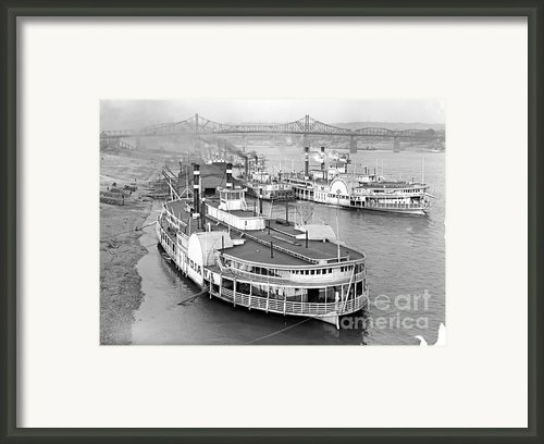 On The Cincinnati Levee 1905 Framed Print By Padre Art