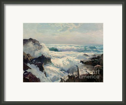 On The Maine Coast Framed Print By Pg Reproductions