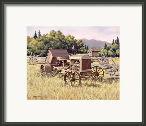 On The Podium Framed Print By Richard De Wolfe