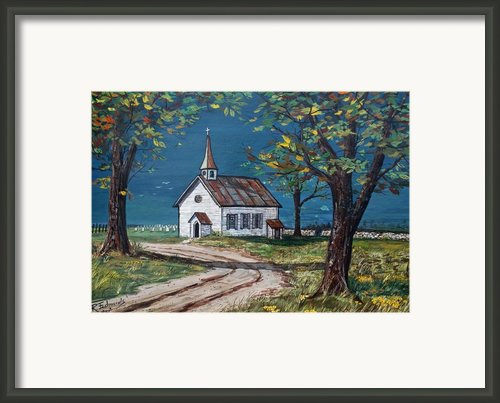 On The Road Home Framed Print By Raymond Edmonds