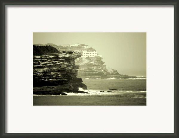 On The Rugged Cliffs Framed Print By Holly Kempe