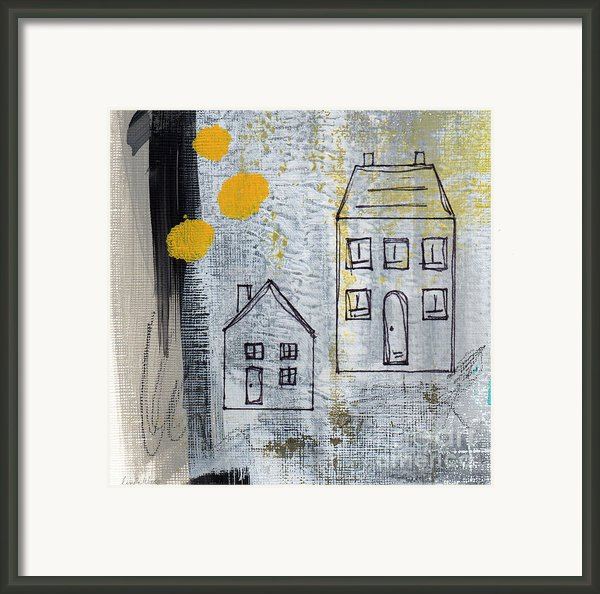 On The Same Street Framed Print By Linda Woods