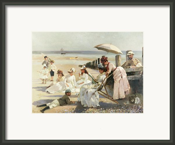On The Shores Of Bognor Regis Framed Print By Alexander M Rossi