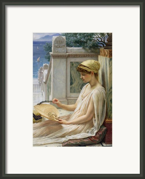 On The Terrace Framed Print By Sir Edward John Poynter