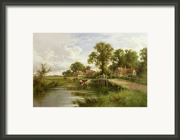 On The Thames Near Marlow Framed Print By On The Thames Near Marlow