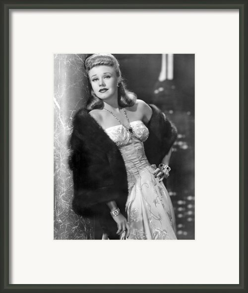 Once Upon A Honeymoon, Ginger Rogers Framed Print By Everett