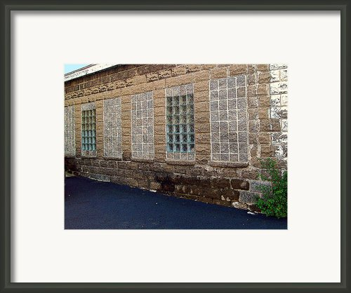 Once Were Windows Framed Print By Mj Olsen