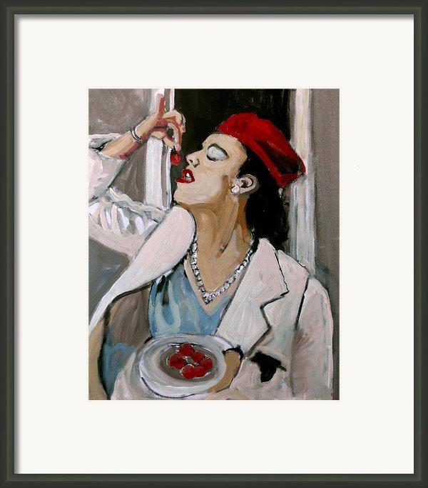 One Cherry Less Framed Print By Adam Kissel