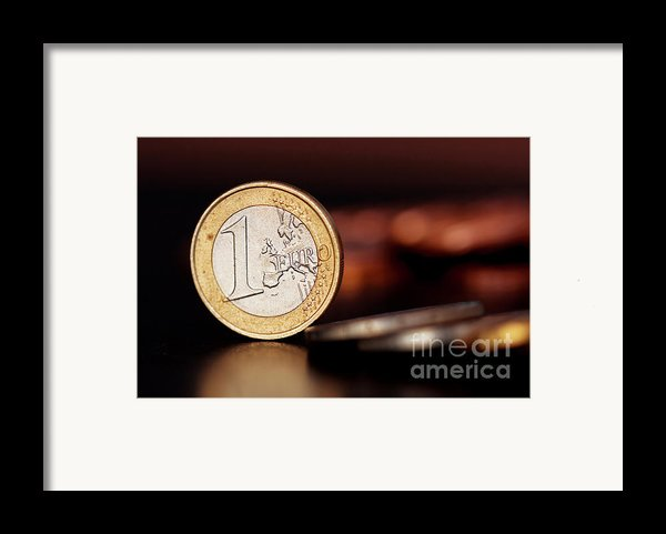 One Euro Coin Framed Print By Soultana Koleska