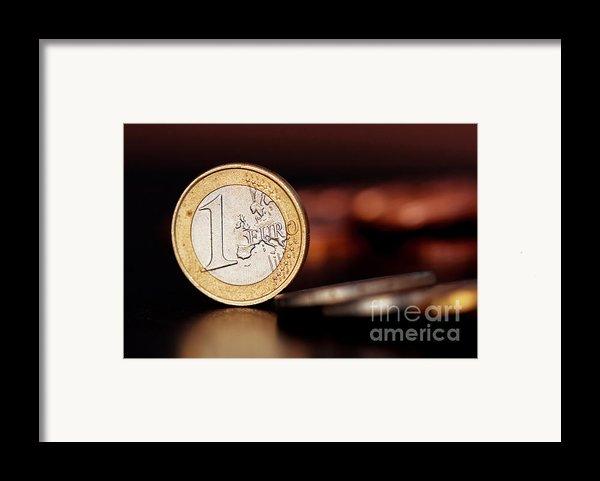 One Euro Coin Framed Print By Soultana Koleska