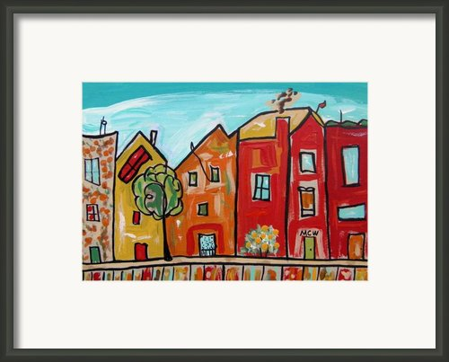 One House Has A Screen Door Framed Print By Mary Carol Williams