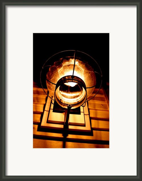 Onion Lamp At Night Framed Print By Robert Morin