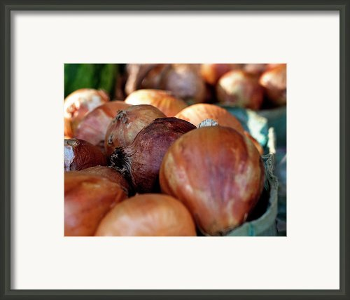 Onions At A Roadside Market Framed Print By Toni Hopper