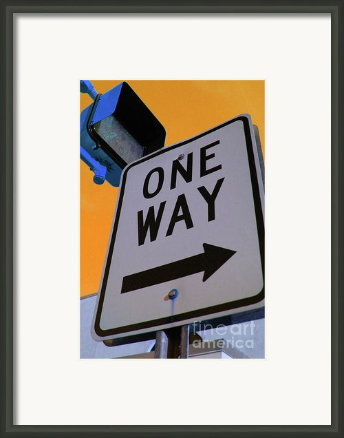 Only One Way Framed Print By Karol  Livote