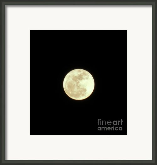 Only The Moon Framed Print By Elizabeth Hernandez