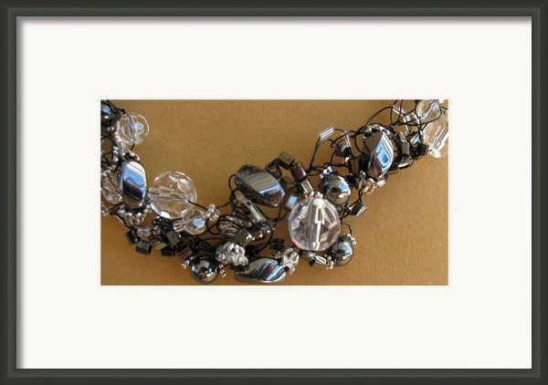 Onyx And Ice Framed Print By Annette Tomek