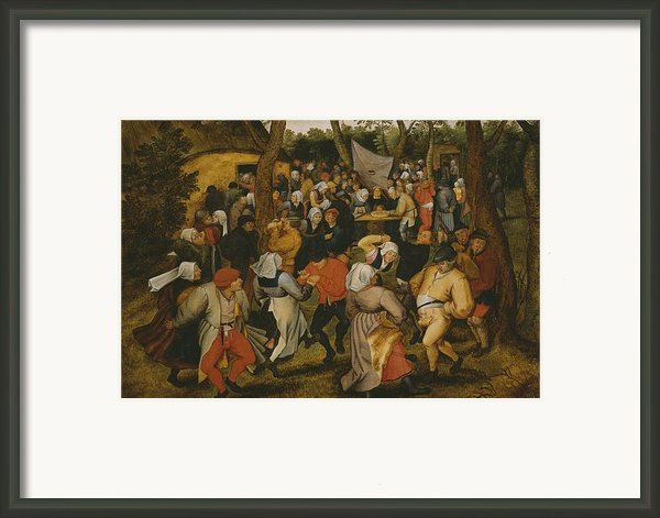 Open Air Wedding Dance Framed Print By Pieter The Younger Brueghel