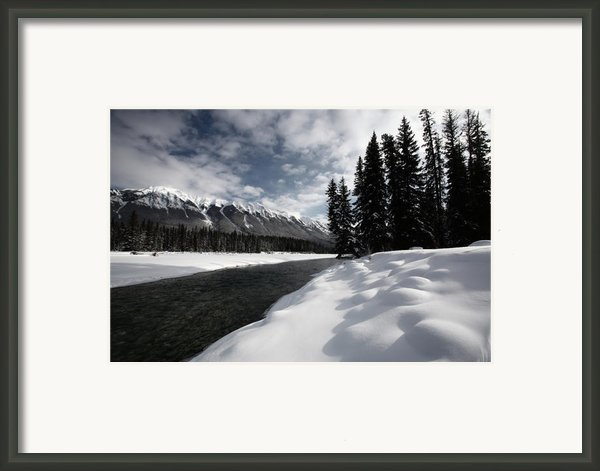 Open Water In Winter Framed Print By Mark Duffy