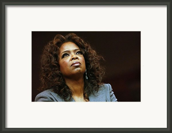 Oprah Winfrey In Attendance For Barack Framed Print By Everett
