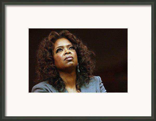 Oprah Winfrey In Attendance For Barack Framed Print By Everett