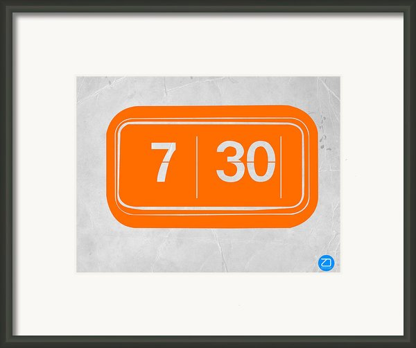 Orange Alarm Framed Print By Irina  March