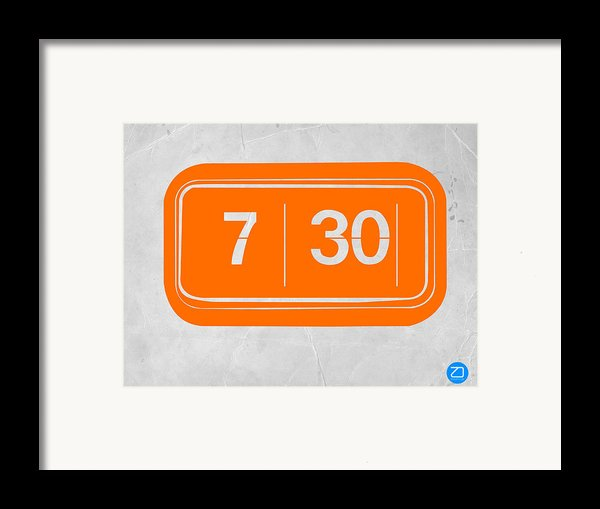 Orange Alarm Framed Print By Naxart Studio