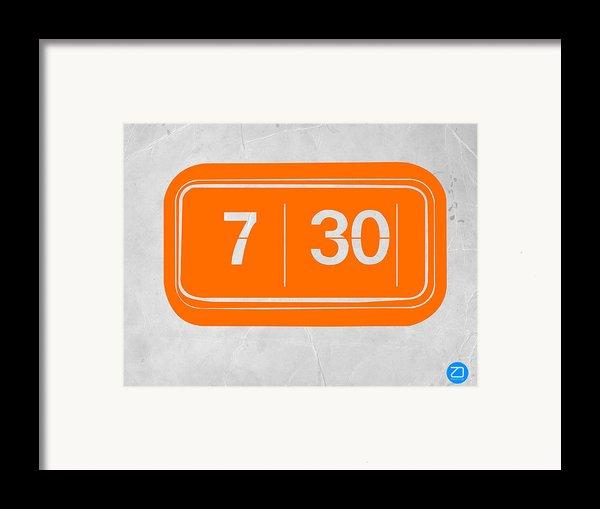 Orange Alarm Framed Print By Naxart Studio