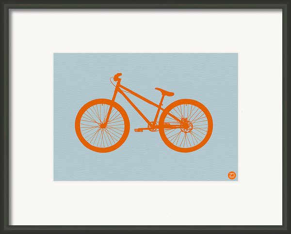 Orange Bicycle  Framed Print By Irina  March
