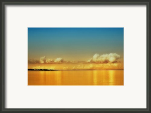 Orange Clouds Framed Print By Dapixara Art