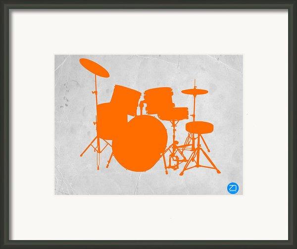 Orange Drum Set Framed Print By Naxart Studio