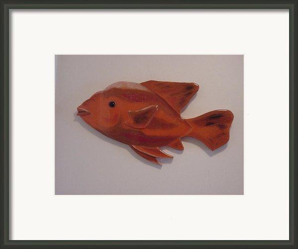 Orange Fish Framed Print By Val Oconnor