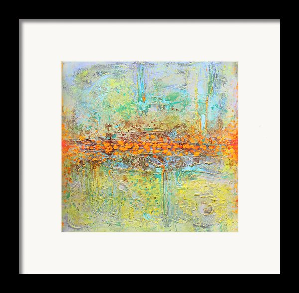 Orange Intenference Framed Print By Lolita Bronzini