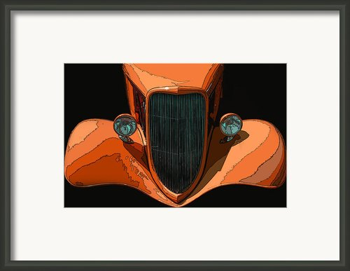 Orange Jalopy Framed Print By Samuel Sheats