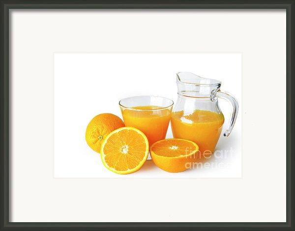 Orange Juice Framed Print By Carlos Caetano