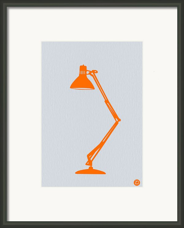 Orange Lamp Framed Print By Irina  March