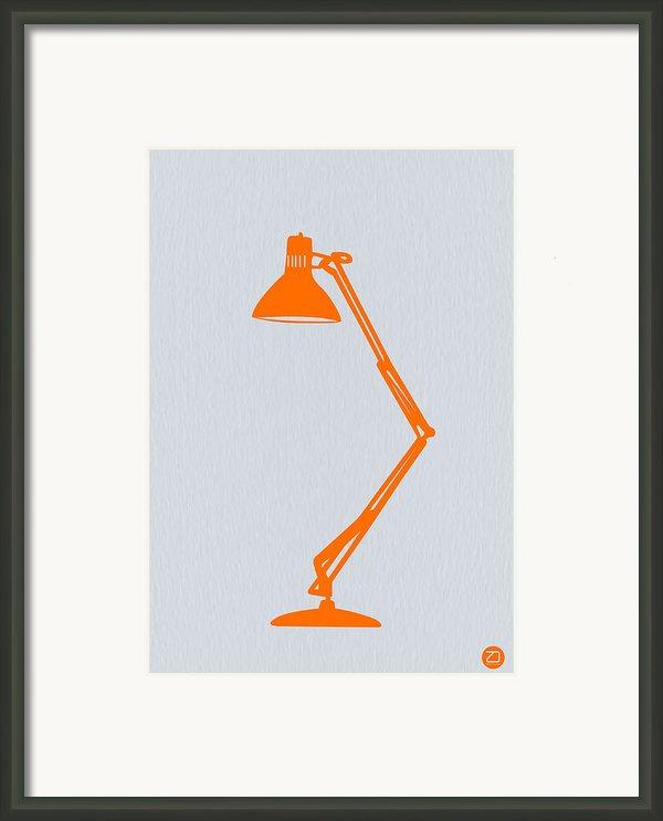 Orange Lamp Framed Print By Naxart Studio