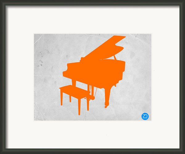 Orange Piano Framed Print By Irina  March