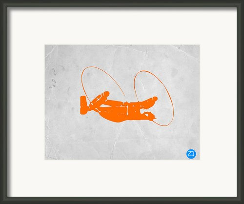 Orange Plane Framed Print By Irina  March