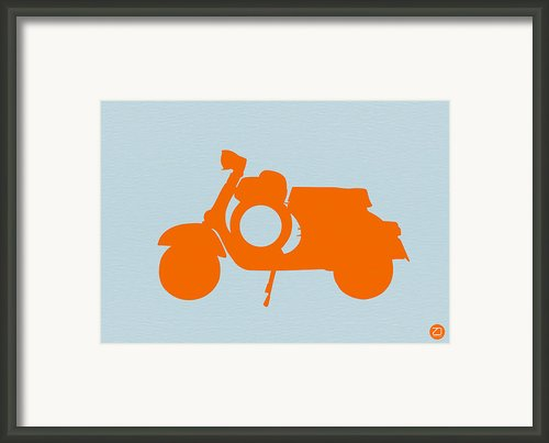 Orange Scooter Framed Print By Irina  March