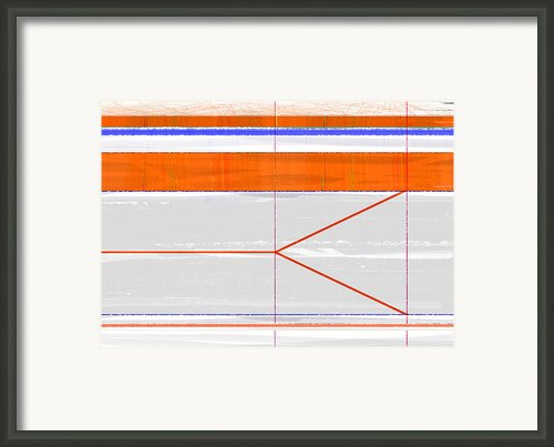 Orange Triangle Framed Print By Irina  March