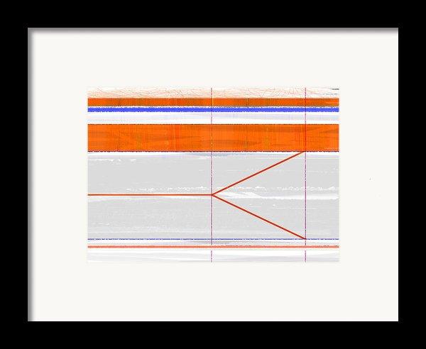 Orange Triangle Framed Print By Naxart Studio