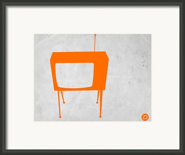Orange Tv Framed Print By Naxart Studio