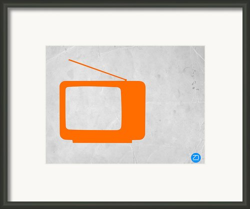 Orange Tv Vintage Framed Print By Irina  March