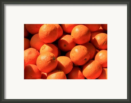 Oranges Framed Print By David Dunham