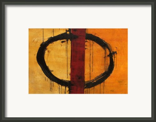 Order In Chaos Yellow Framed Print By Ellen Beauregard