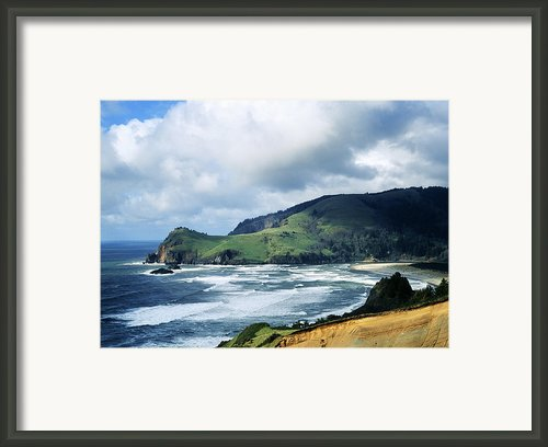 Oregon Coast Cliffs Framed Print By Elias Carlson