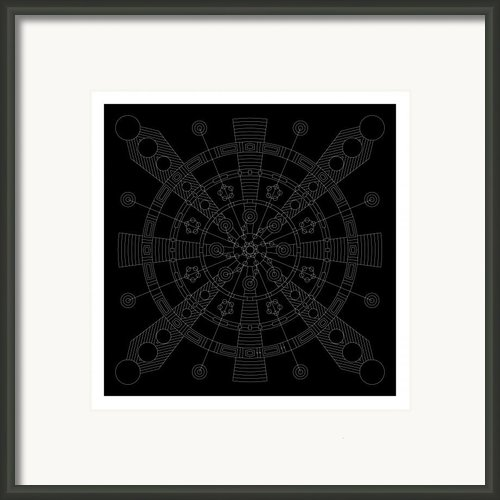 Origin Inverse Framed Print By Db Artist
