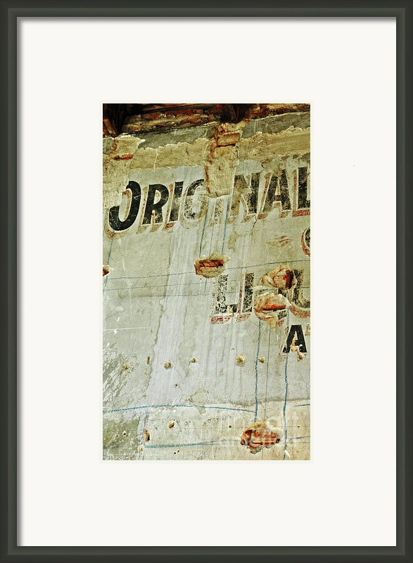Original On A Wall Framed Print By Anahi Decanio
