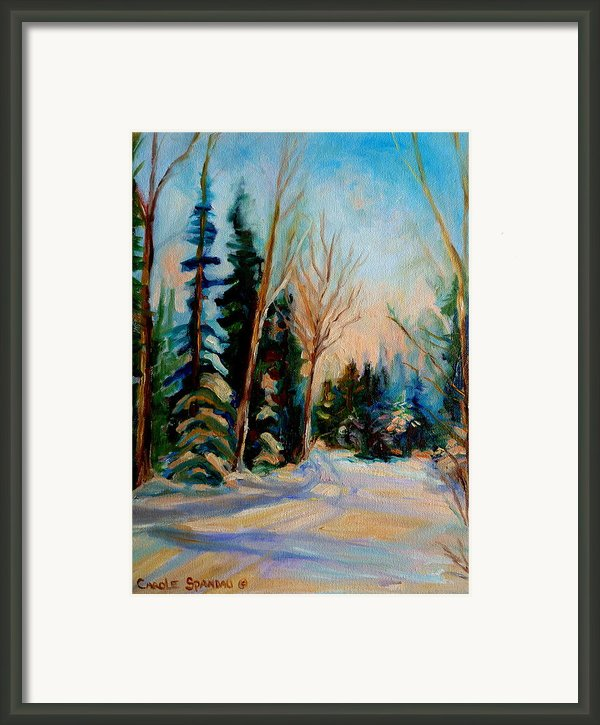 Ormstown Quebec Winter Road Framed Print By Carole Spandau
