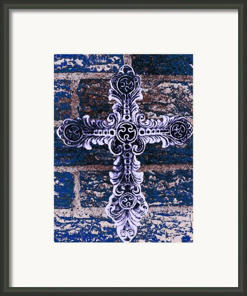 Ornate Cross 2 Framed Print By Angelina Vick